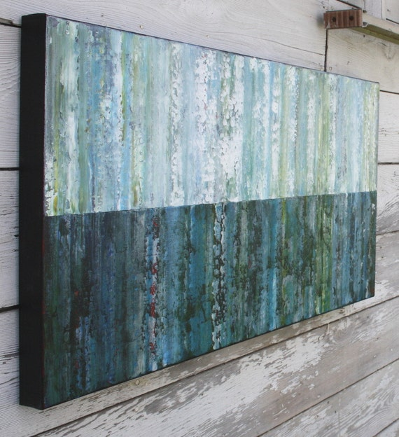 Large Abstract Painting - Water (20x40) Original Acrylic Painting