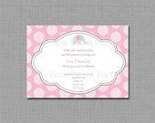 INVITATION - Pretty Pink Elephant