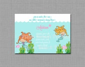 Whimsical Mermaid Invitation - PRINTABLE