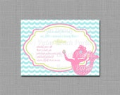 Little Mermaid Invitation - PRINTABLE