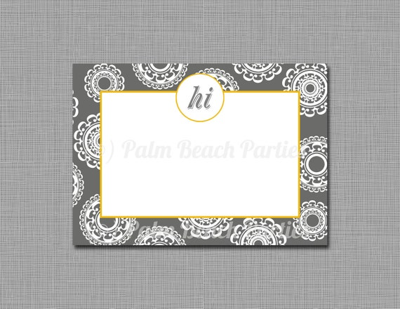 NOTECARD - Modern by Design: Grey and Yellow