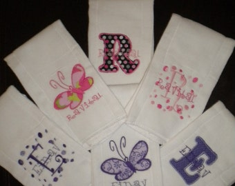 Personalized Burp Cloth's