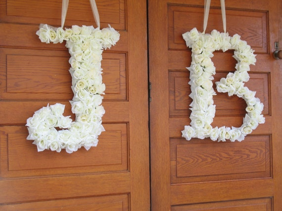 letter a floral decoration images items similar to 1 custom floral silk letter wedding 13000