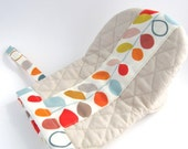 LAST ONE Oven Mitts pot holder- colorful leaves