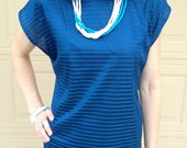 Vintage 1980s Blue Slouch Top