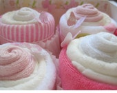 Baby Girl Diaper Washcloth and Socks 10 Piece Cupcake Set