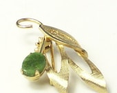 Reserved for Tim Vintage 12k Gold-gf JADE Delicate and Detailed BROOCH Pin on Etsy