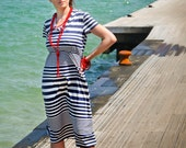 "Nursing Striped Dress ""Sea Stories"""