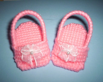 Needlepoint plastic canvas doll sandals