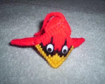 Cardinal kiss ornament
