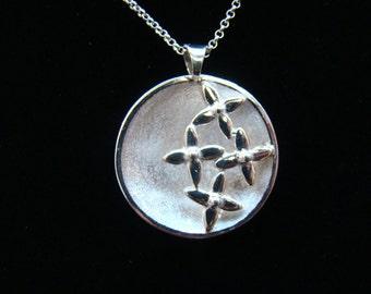 Silver Lilac Bowl Pendant
