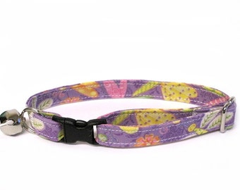 Pastel Dragonflies Adjustable Cat Collar