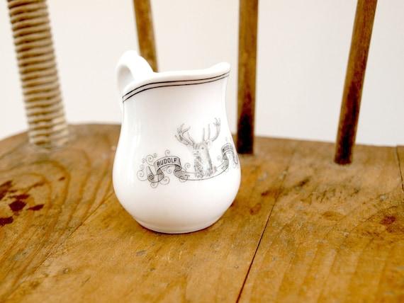 white ceramic creamer vintage