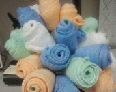 Baby washcloth flowers