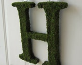 Moss Covered Letter - Moss Covered Letter Wedding Monogram ( 12 inches )