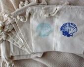 Beach Wedding Favors, Seashell Large Stamp Beach Wedding Favors Set of 10