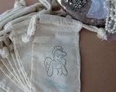 Cinderella Birthday Party Favors, Set of 10 Disney Princess Birthday Cotton Favor Bags. Size 3x5