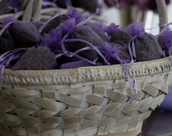 Lavender Sachet Bags, Wedding exit 25 Filled Bags