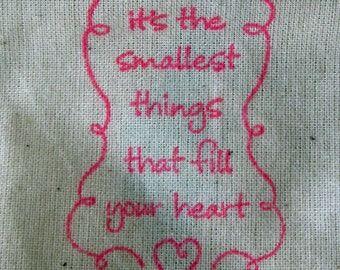 Baby Shower Favors, 10 Smallest Things That Fill Your Heart, Cotton Favor Bags