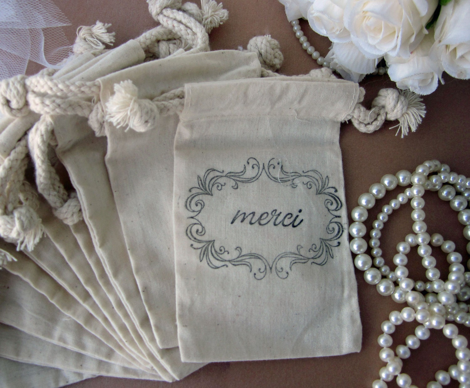 French Wedding Gifts: French Wedding Favors 10 Merci French Style