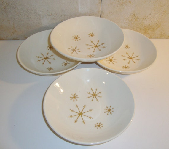 Vintage Star Glow by Royal China Berry Bowls, Set of 4