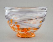 Topsy Turvy Bumblebee Handblown Glass Bowl