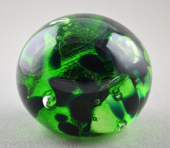 Slytherin Harry Potter Themed Handblown Glass Paperweight