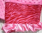 Sweet Minky, Zebra and Satin Ruffle Pillowcase
