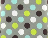 Gray Dots with Minky Boppy Cover