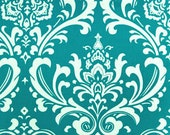 Turquoise Damask and Minky Boppy Cover