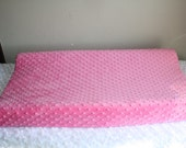 Hot Pink Minky Changing Pad Cover