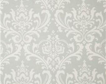 Gray Damask Crib Sheet