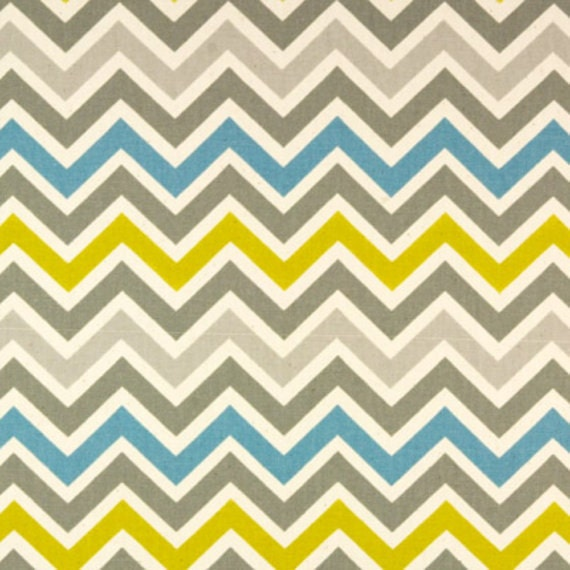 Ready to Ship:Gray, Yellow, and Aqua Chevrons with Minky Boppy Cover