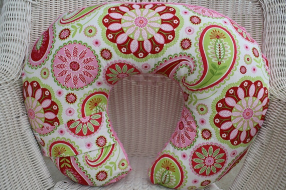 Gypsy Pink Paisley and Minky Boppy Cover
