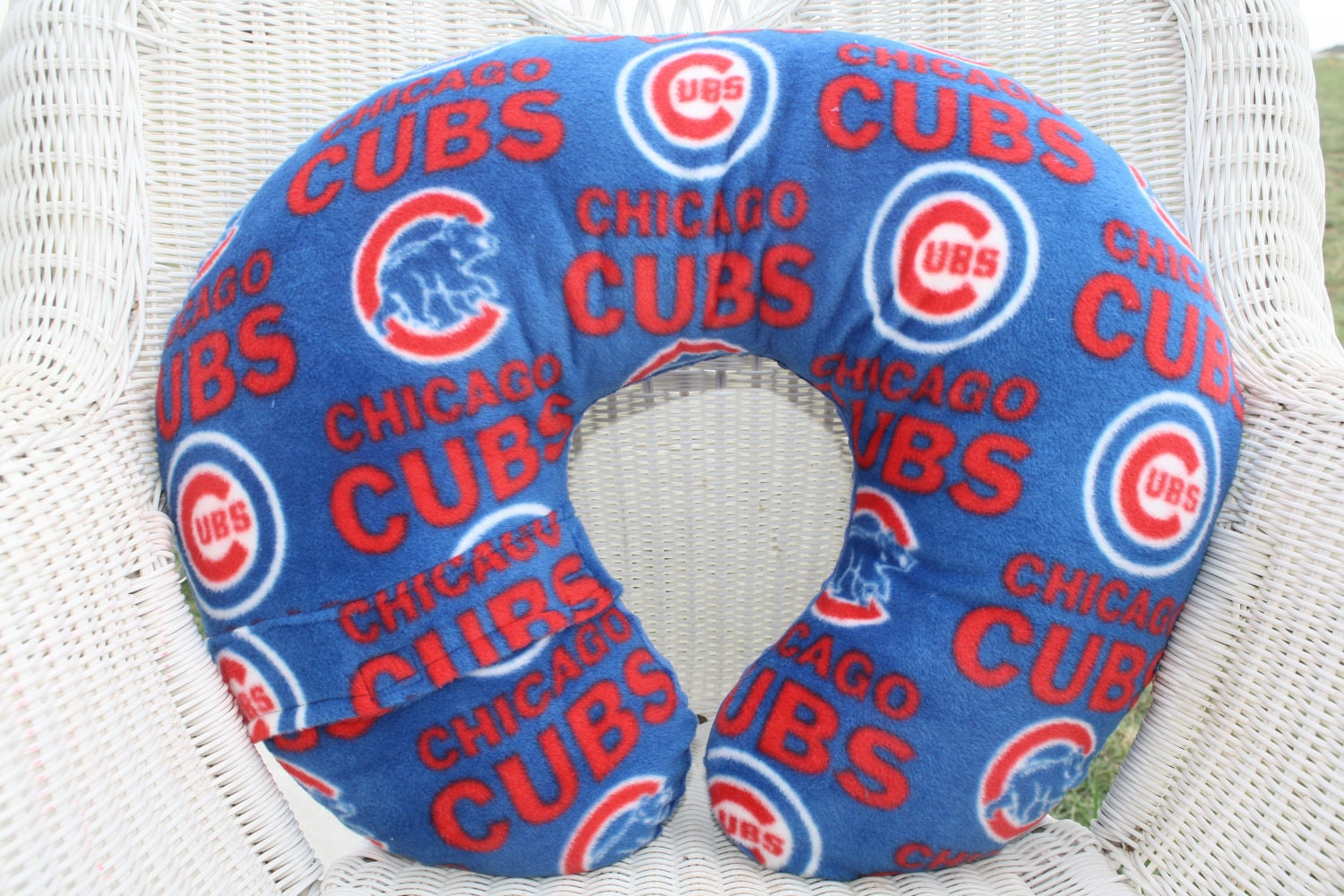 Chicago Cubs With Electric Blue Minky Boppy By