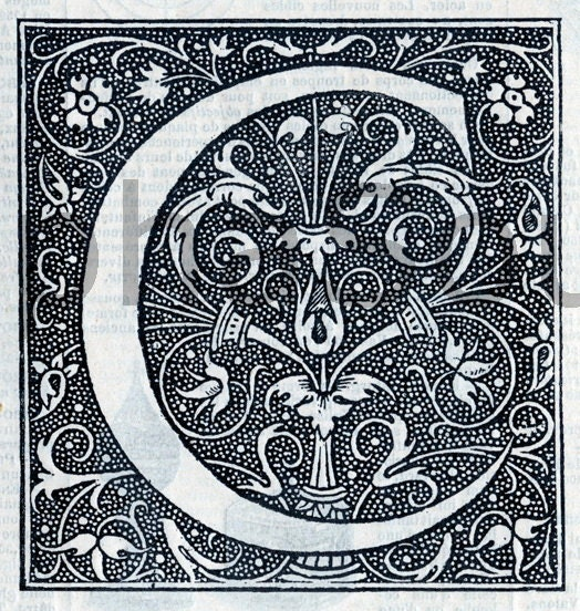 Illuminated Letters C Digital download discoveries for illuminated ...