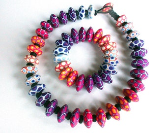 Nuria necklace and bracelet- Shifting Colors