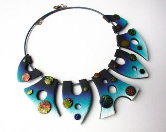 Otherworldly Polymer Clay Necklace