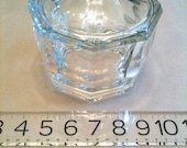 Octagonal Faceted Heavyweight Glass Candy Dish with Lid