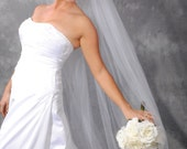 White, Cathedral length, Plain edge veil