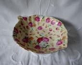 Vintage Floral Candy Dish, J. Godinger & Co.