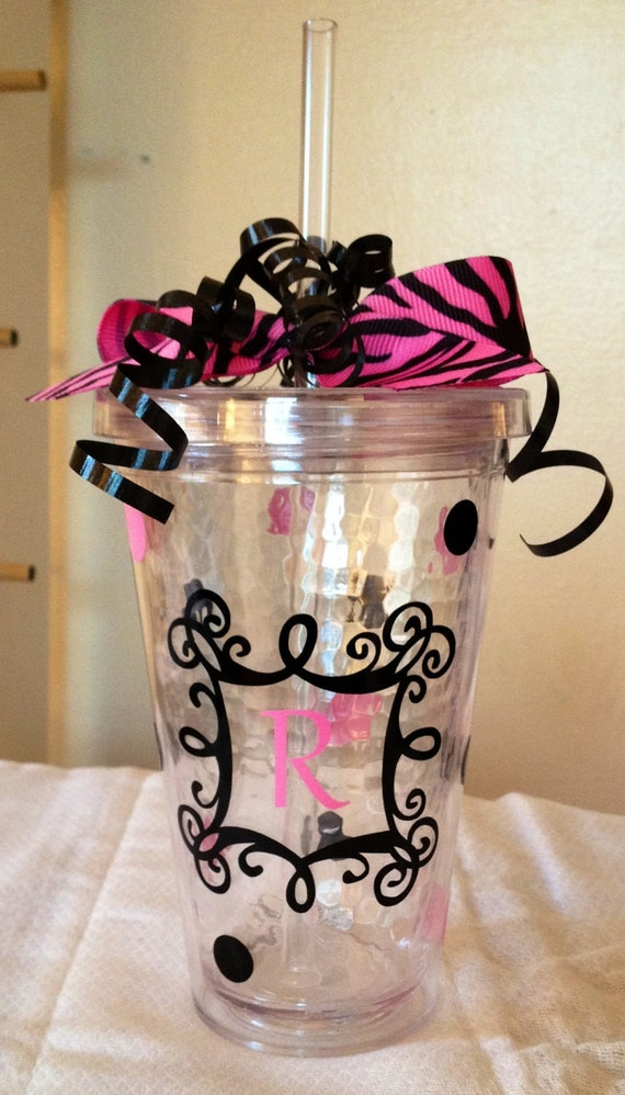 Personalized Acrylic Tumbler With Lid Amp Straw