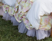 Gorgeous Addison Scalloped and Ruffled Tulle Twin Bed Skirt