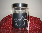 Chalk Board Jars for Storage with chalk