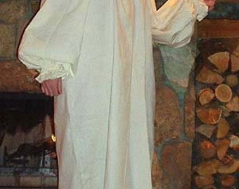 Handmade Renaissance Fantasy Full Length Cotton Chemise in Your Color. One Size fits all for SCA, Larp, Ren Faire, Convergence