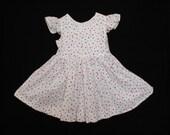 Sweet little ruffle sleeve dress.