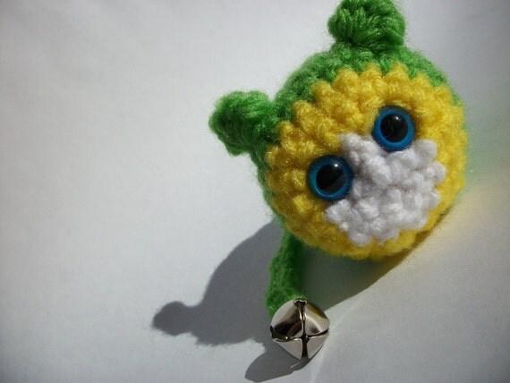 Crochet Catnip Mice - Yello & Green TomKat Mouse