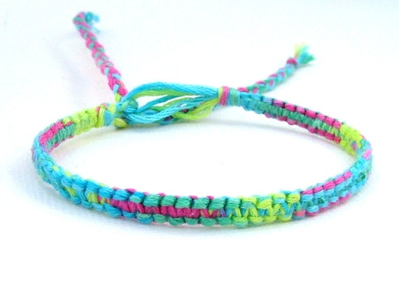Rainbow Woven Friendship Bracelet