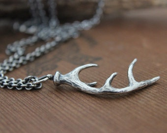 Wild deer antler necklace for men (or women who like their jewelry bold)