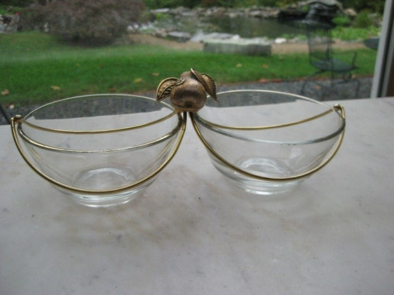 Vintage 1960's George Briard Pear and Wire Atomic Serving Bowls
